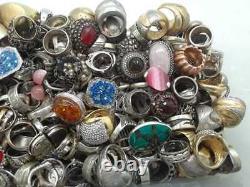 100 Gram Assorted Sterling 925 Silver Ring Lot Wholesale Resale Vintage-now