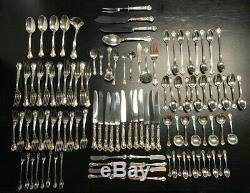 110 pc Sterling Silver Gorham CHANTILLY Set W Servers No Monograms Pat 1895