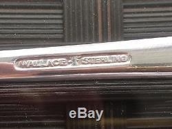 12 Set Wallace Grande Baroque Sterling Silver Teaspoons Spoon Teaspoon Grand
