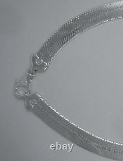 16.5mm Herringbone Sterling Silver Necklace 925 Italian Chain NEW 20,22,24,30 in