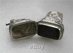 1776 Scandinavian Sterling Silver Snuff / Perfume box Hovedvannseg LOUIS XV