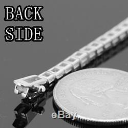 17-30925 STERLING SILVER BLING OUT TENNIS CHAIN NECKLACE 3MM 22g-36g