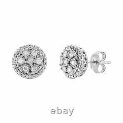1/2 ct Diamond Pendant & Earring Set in Sterling Silver
