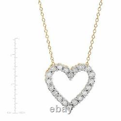 1/4 ct Diamond Heart Pendant Necklace in Sterling Silver, 18