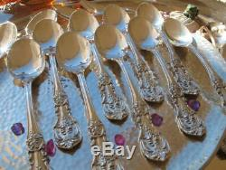 1 Sterling Silver Oval Soup Spoon Reed Barton Francis Flatware Heavy Rare Large
