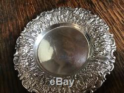 2 Tiffany & Co Floral Fern STERLING SILVER Tray & Over cup Tea Strainer w handle
