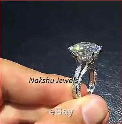 3Ct White Round Cut Sparkle Moissanite Engagement Ring 925 Sterling Silver