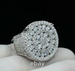 3.1 Ct Round Cut Moissanite Men's Ring Christmas Day Wedding 925 Sterling Silver