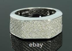 52 Carat Real Diamond 925 Sterling Silver Rhodium Engagement Wedding Pinky Ring