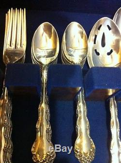 54 Pcs Reed & Barton Sterling Silver Flatware Tara for 12 Place Settings+Serving