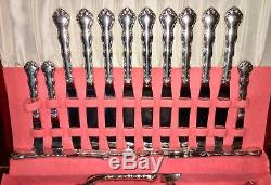 55 pc Reed & Barton Sterling Silver Tara Flatware Complete 8 Place Setting Set