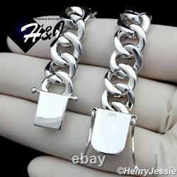 7.5men 925 Sterling Silver 12mm Icy Diamond Miami Cuban Chain Braceletsb12