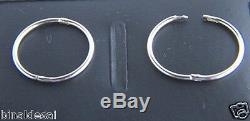 925 Sterling Silver 16mm Plain Half Hinged Hoop Sleeper Earrings Sleepers GIFT N