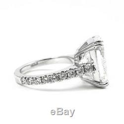 925 Sterling Silver 4.32 Ct Off White Radiant Moissanite Engagement Party Ring
