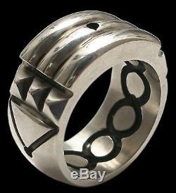925 Sterling Silver Atlantis Ring Talisman Anillo Atlante Black Finish All Sizes