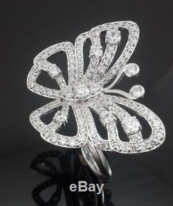 925 Sterling Silver CZ Mariah Carey inspired butterfly ring perfect fan gift sz