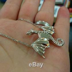 925 Sterling Silver Game of Thrones Daenerys Targaryen Dragon Necklace Pendant