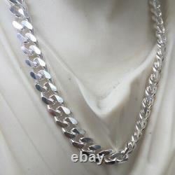 925 Sterling Silver Hip Hop Men Cuban Link Chain Necklaces 7.5mm 60GR 26 Inch