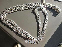 925 Sterling Silver Men Women 7mm D/cut Cuban Link Chain Necklace Sz 22