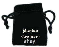 ATOCHA COIN Pirate Pendant GP over 925 Sterling Silver Sunken Treasure Jewelry