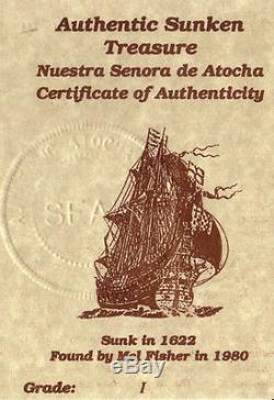 ATOCHA Coin Ring Mens 925 Sterling Silver Sunken Treasure Shipwreck Coin Jewelry