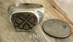ATOCHA Coin Ring Mens Coin 925 Sterling Silver Sunken Treasure Shipwreck Jewelry