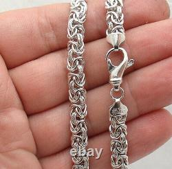 Anti-Tarnish Domed Byzantine Chain Necklace Real Sterling Silver QVC 18 20