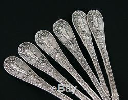 Antique French Sterling Silver 6 Dinner Forks Napoleon 1 Empire Coat Of Arms