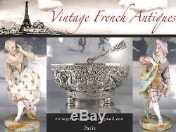Antique French Sterling Silver Carving Set Head Mask, Emile Huignard Paris 1880