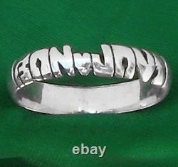 Any Name Personalized Sterling Silver Ring, Custom Band