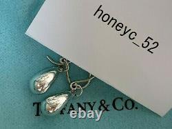 Auth TIFFANY & Co. Teardrop Dangle Earrings Peretti sterling Silver 925 DHL