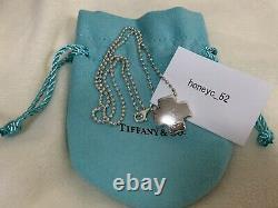 Authentic Tiffany & Co Sterling Silver 925 Ball Chain Roman Cross Pendant