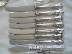 BIRKS STERLING CHANTILLY FLATWARE 63 PC SET with CHEST