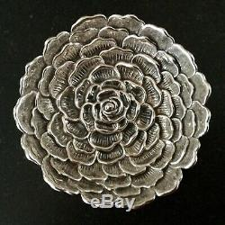 BUCCELLATI Sterling silver CAMELLIA FLOWER 3 dish bowl
