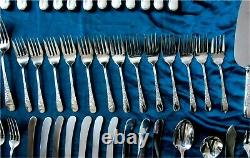 Birks London Engraved Pattern Sterling Silver flatware for 8 93 pc. 2639gr