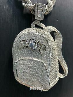 CZ SECURED BAG 925 Sterling Silver ICE Men Icy Shine Shiny PENDANT Bling NEW