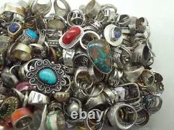 C 50 Grams Ring Lot Assorted Sterling Silver 925 Wholesale Resale Vintage Now