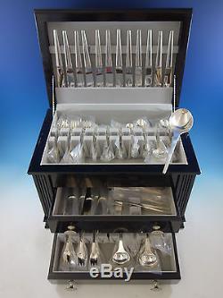 Caravel by Georg Jensen Sterling Silver Flatware Set Service 107 Pieces Modern