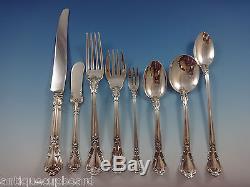 Chantilly by Gorham Sterling Silver Dinner Flatware Set 18 Service 165 Pcs Huge