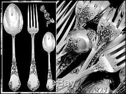 Coignet French Sterling Silver Dinner Flatware Set 18 pc Art Nouveau