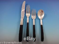 Contrast by Lunt Sterling Silver Flatware Set Service 48 Pcs Mid-Century Modern