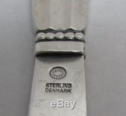 Danish Sterling Silver Georg Jensen Acorn 70 Piece Flatware Set