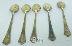 David Andersen Sterling Silver Enamel Demitasse Spoons