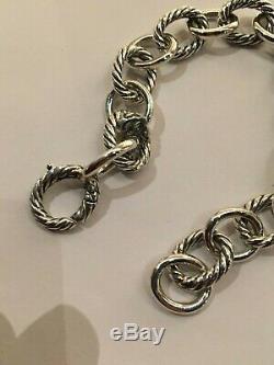 David Yurman 925 Sterling Silver Large 12mm Oval Link Chain Bracelet
