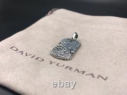 David Yurman Men's Waves Sterling Silver Dog Tag (26mmx15mm) $450 NWOT