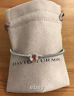David Yurman chatelaine Bracelet With Morganite 925 Sterling Silver 3mm special
