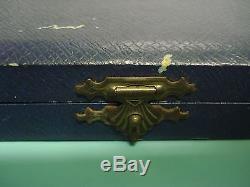 ELA Egon Laurisden Guilloche Enamel HM sterling silver 925 box GILT Cake Fork s