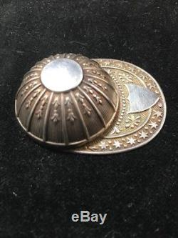 English Sterling Silver Jockey Cap Figural Tea Caddy Spoon