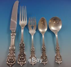 Francis I Reed & Barton Sterling Silver Dinner Flatware Set Service 62 Pcs Old