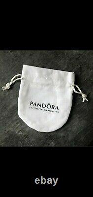 Genuine Sterling Silver PANDORA Grey DOUBLE Wrap LEATHER BRACELET 38CM + pouch